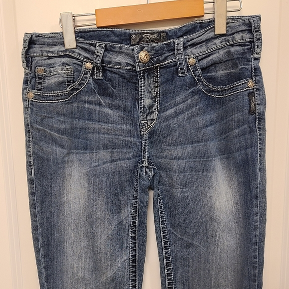 Silver Jeans Light washed boot cut jeans